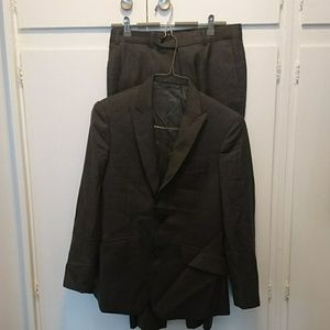 Hand tailored Charcoal Grey Wool Suit 31x29